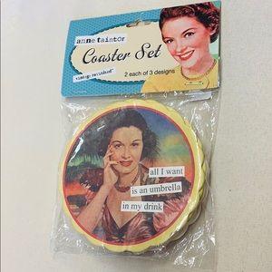 Anne Taintor | Vintage Retro Set Drink Coasters